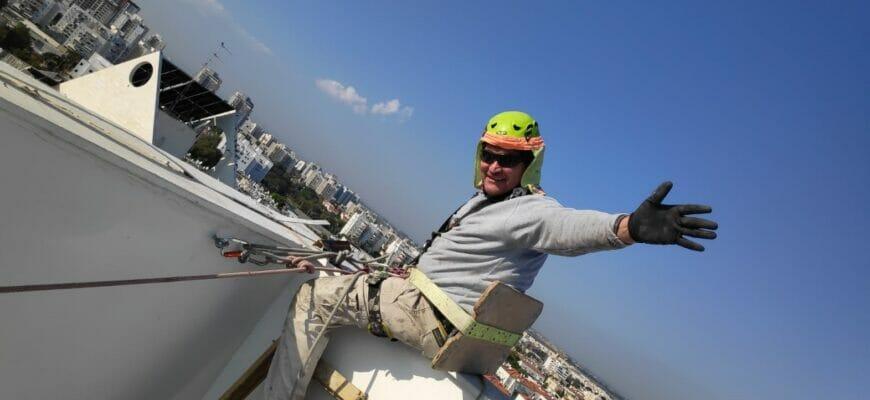 Промышленный альпинист в Израиле