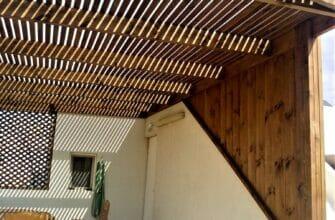 Деревянные пергола на балконе в Израиле. Преимущества и недостатки.